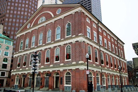 Historic Faneuil Hall located in Boston, Massachusetts