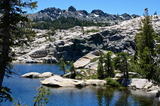 "Gary Snyders Haiku poem ""Old Pond"" was based on the Five Lakes Basin."