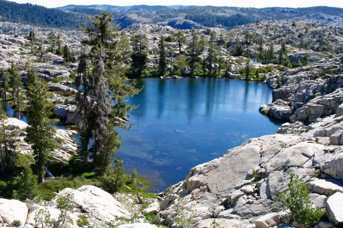 One of the five Lakes in the Five Lakes Basin north of Interstate 80 in the Sierra Nevada Mountains.