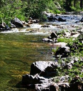 Five Lakes Creek in the Granite Chief Wilderness area behind Alpine Meadows ski area.