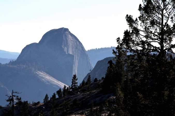 Half Dome, Yosemite. Little Yosemite Valley is on the other side.