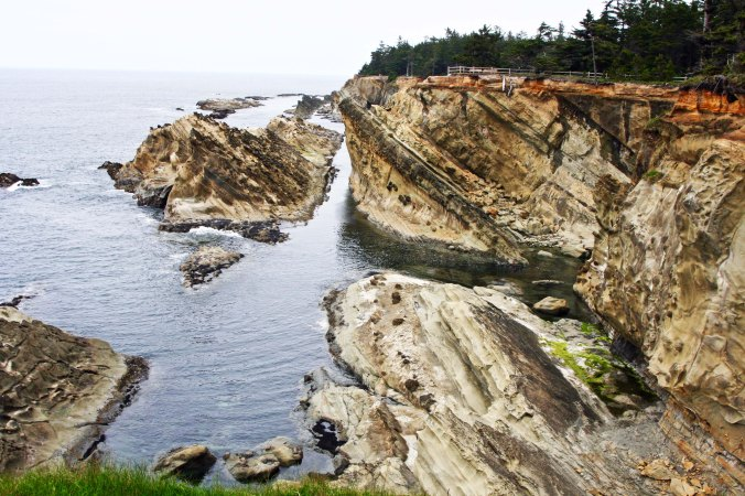 Coastline of Shore Acres Park on the Oregon Coast near Coos Bay, Oregon.