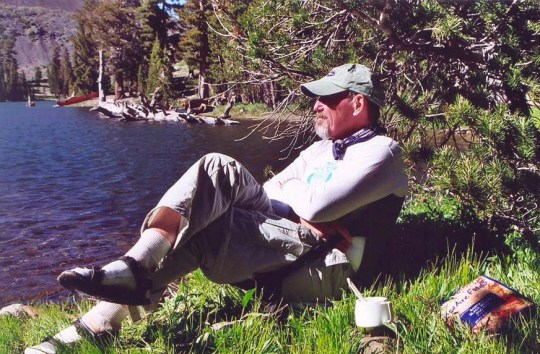 Here's Ken, enjoying a quiet moment. Peggy's sister, Jane, and I hired Ken to run our first 500 mile bike trek in 1977 and help out with programs. Prior to going to college, he had been a helicopter pilot in the Vietnam War. He, along with his wife Leslie, are also part of our extended family.