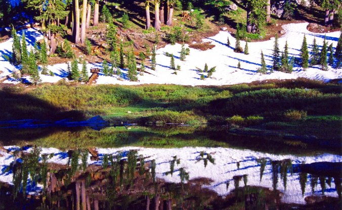 Little Needle Lake in the Granite Chief Wilderness.
