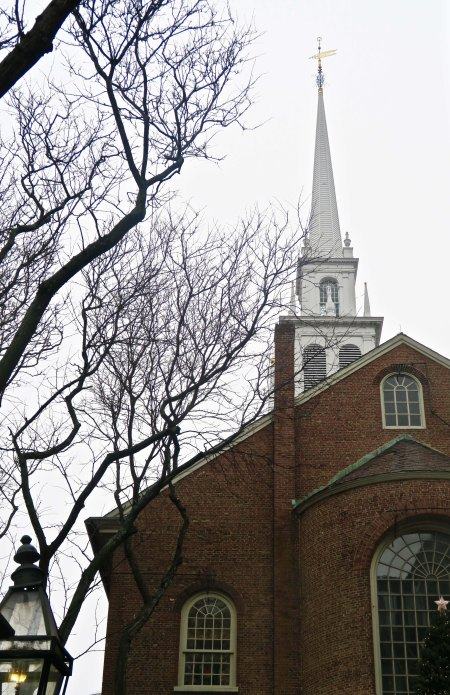 The Old North Church in Boston, Massachusetts.