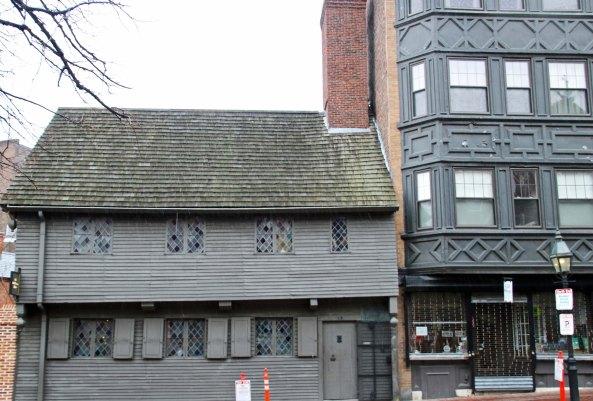 Paul Revere's home on the Freedom Trail in Boston, Massachusetts.