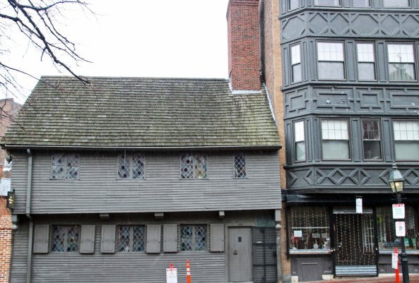Paul Revere's home on the Freedom Trail in Boston, Massachusetts.