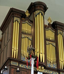 Organ pipes at Old North Church in Boston.