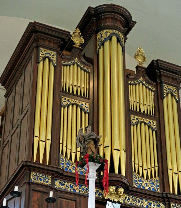 Organ pipes at Old North Church in Boston.