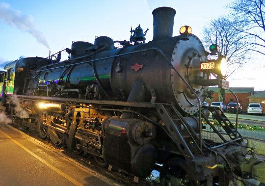 Steam train rides are featured throughout the year in Essex, Connecticut.