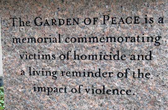 The Boston Peace Garden.