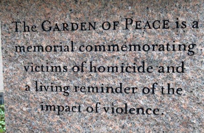 The Boston Peace Garden.