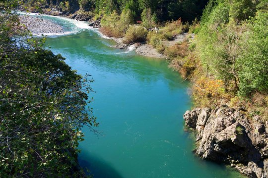 Another view of the Smith River flowing along Highway 199 in Northern California.