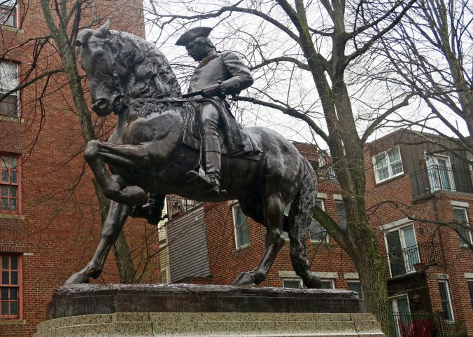 This sculpture of Paul Revere