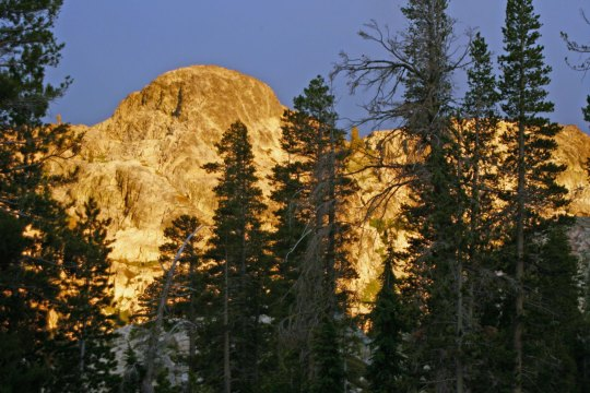 The sunset on the Black Buttes and, finally...