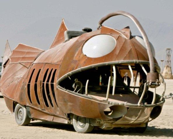 Angler fish mutant vehicle at Burning Man.