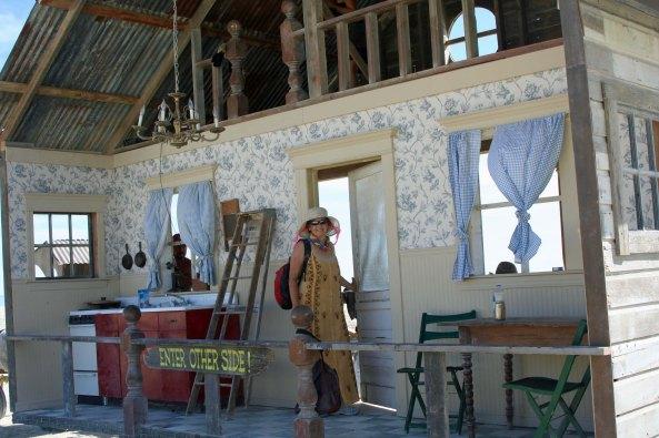 Kitchen of wandering bar at Burning Man.