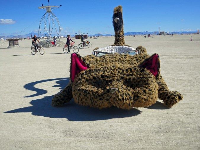 Cat car mutant vehicle at Burning Man.