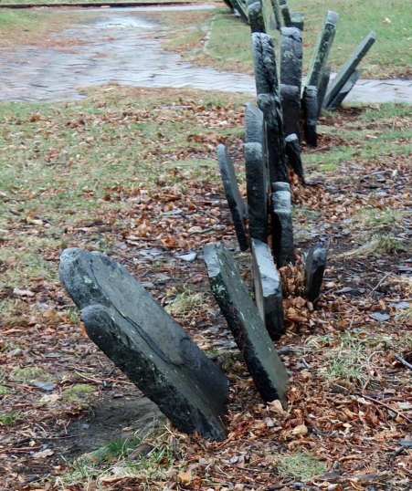 The crooked tombstones on Cobb's Hill remind me of someone having a really bad tooth day.