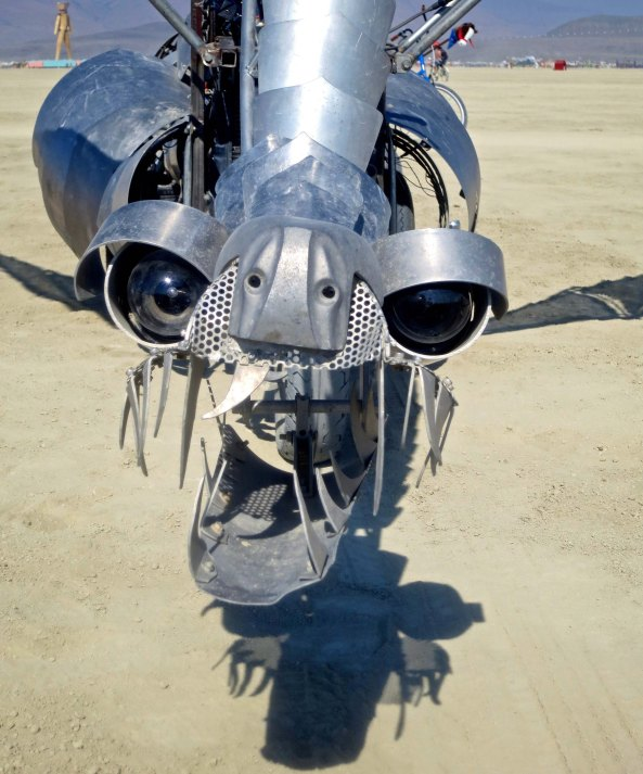 Small dragon art car at Burning Man.
