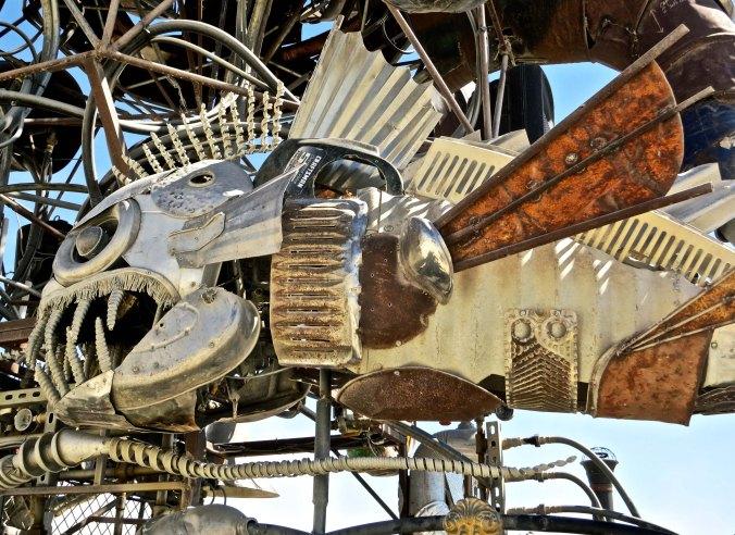 El Pulpo Mechanico fish at Burning Man.
