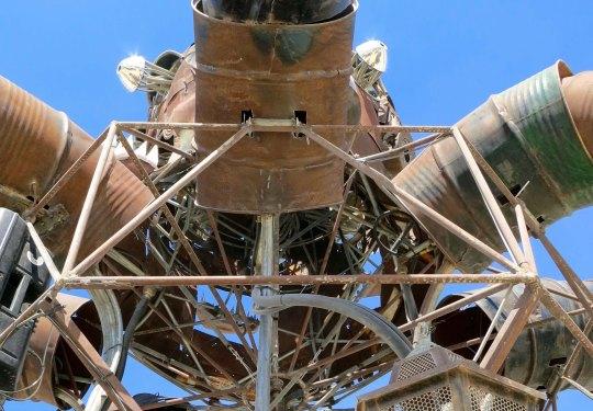 Looking up at El Pulpo provides a view of his barrel tentacles.