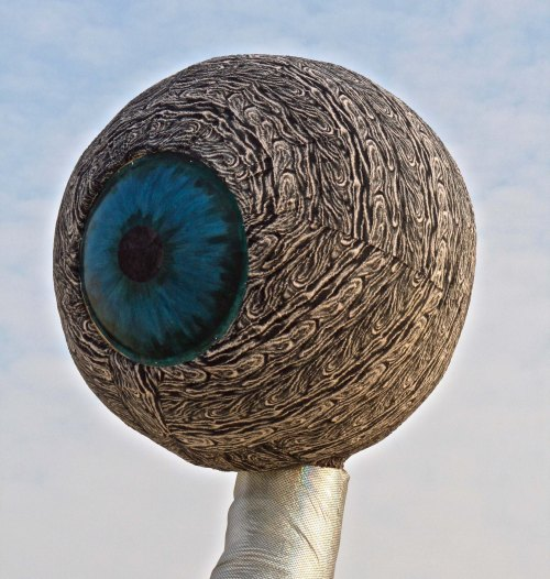 Eye of mutant vehicle at Burning Man.