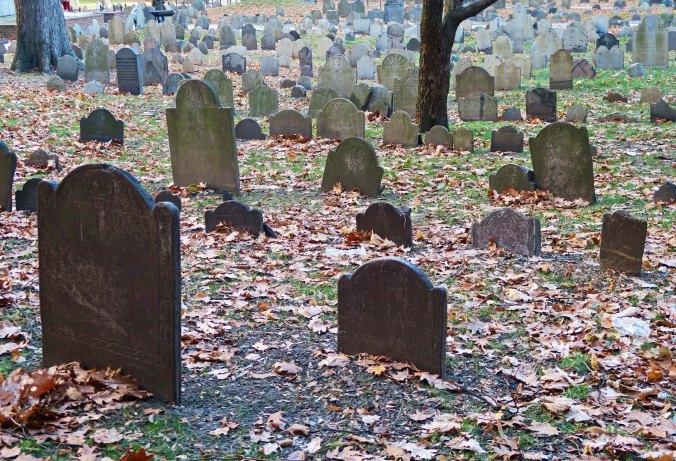 An estimated 5000 people are buried in the two acre Granary Graveyard. A few of them even have tombstones. It helps to be a Revolutionary War hero.