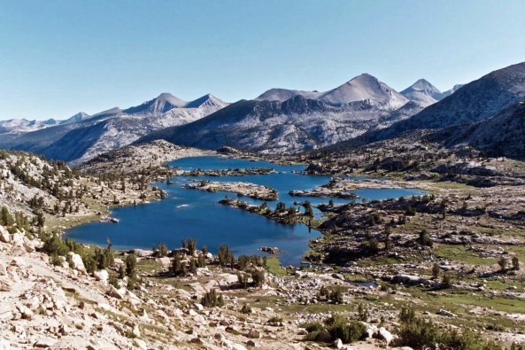 The high Sierras are chockfull of beautiful alpine lakes. Except for very dry years, water is rarely a problem. Often the opposite is true, especially when it comes to crossing creeks and rivers filled with rushing snowmelt.