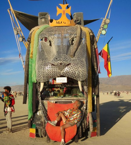 M.O.J.P. art car at Burning Man.