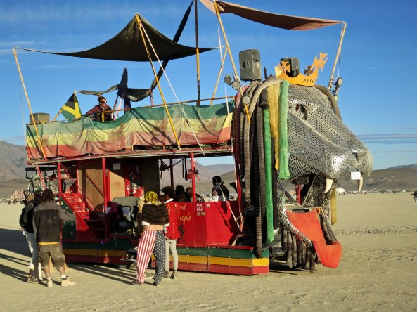M.O.J.P. mutant vehicle at Burning Man.