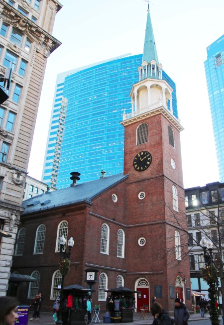 "So the meeting was switched to the Old South Meeting House, which was apparently big enough to accommodate the 5,000 people who wanted to participate. Samuel Adam's final words to the gathering, ""This meeting can do nothing more to save the country,"" were apparently the secret rallying cry that sent the Sons of Liberty dressed as Mohawk Indians off to the Boston Harbor for their Tea Party."