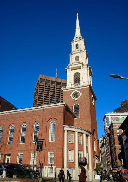 Park Street Church was built in the early 1800s and became a center of opposition to slavery.