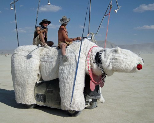 Polar Bear mutant vehicle at Burning Man.