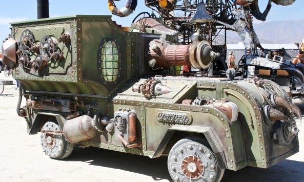 The Beamer Steamer at Burning Man.