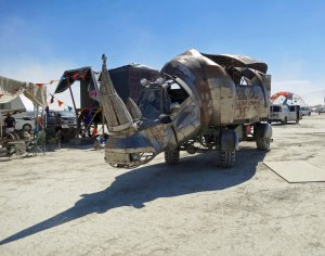 Rhino Redemption in camp at Burning Man.