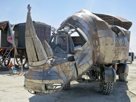 This wonderful rhino mutant vehicle has become one of my favorites at Burning Man. I was once charged by one of his counterparts in East Africa and have had a special appreciation for rhinos ever since.