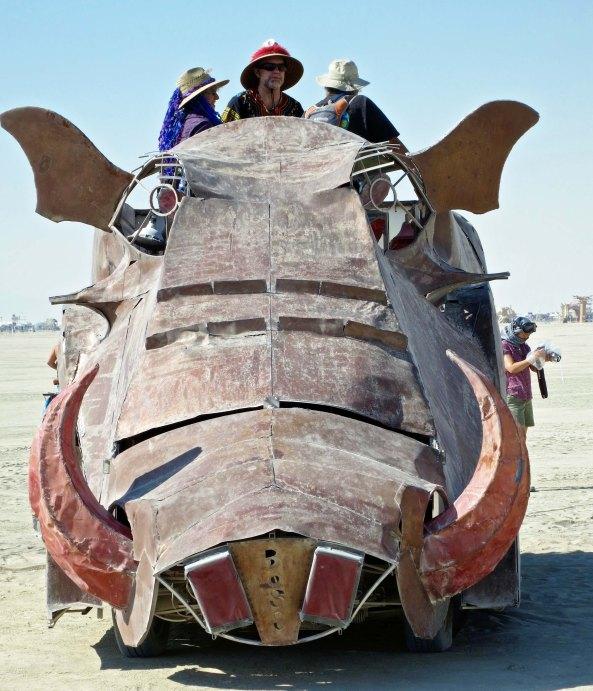 Warthog art car at Burning Man.