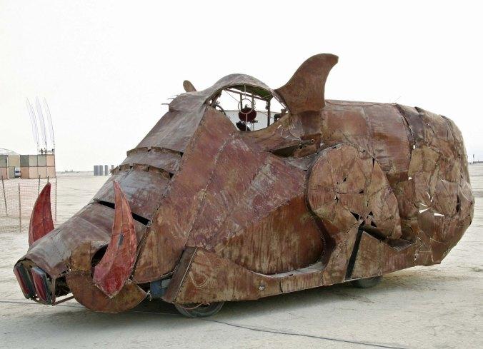 Burning Man warthog mutant vehicle.