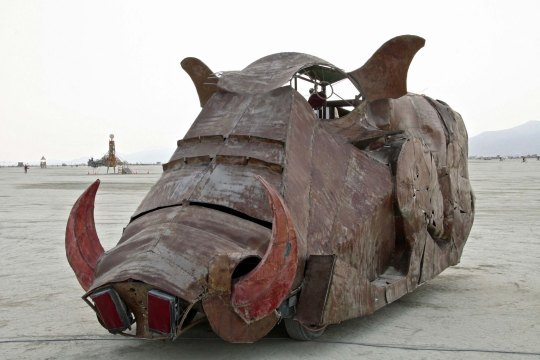 Warthog mutant vehicle at Burning Man.