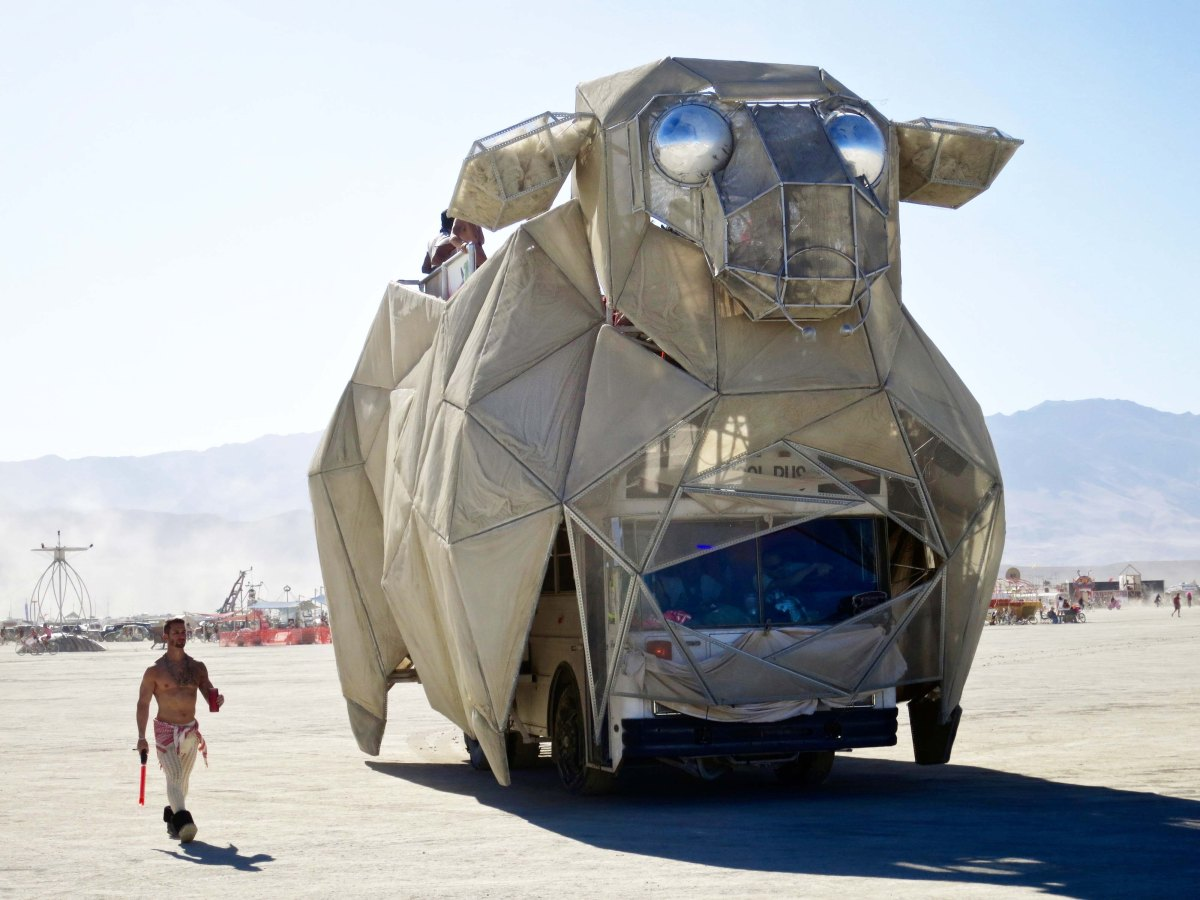 Giant bull mutant Vehicle at Burning Man.