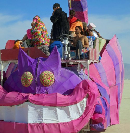 Cheshire Cat mutant vehicle at Burning Man.