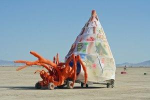 Crab with shell mutant vehicle at Burning Man.
