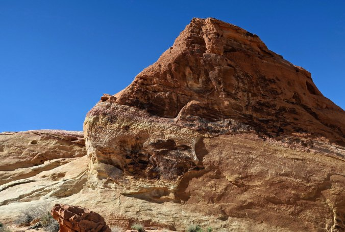 Stone sculpture at White Domes in Valley of Fire State Park.