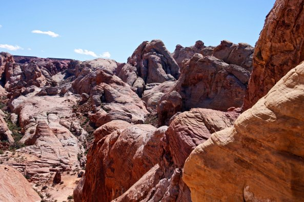 Rocks along trail leading around White Domes at Valley of Fire State Park in southern Nevada.