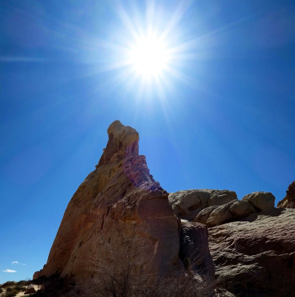 Sun illuminates White Dome s in southern Nevada's Valley of Fire State Park