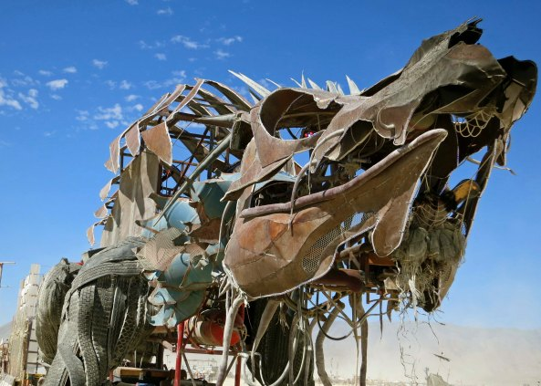 Scary dragon mutant vehicle at Burning Man.