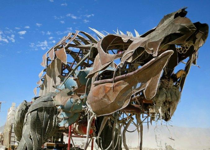 Scary dragon mutant vehicle at Burning Man.