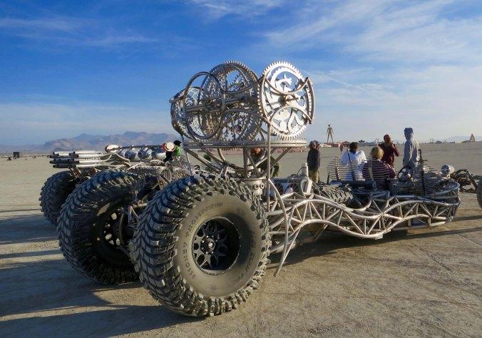 Mutant vehicle hot rod at Burning Man.