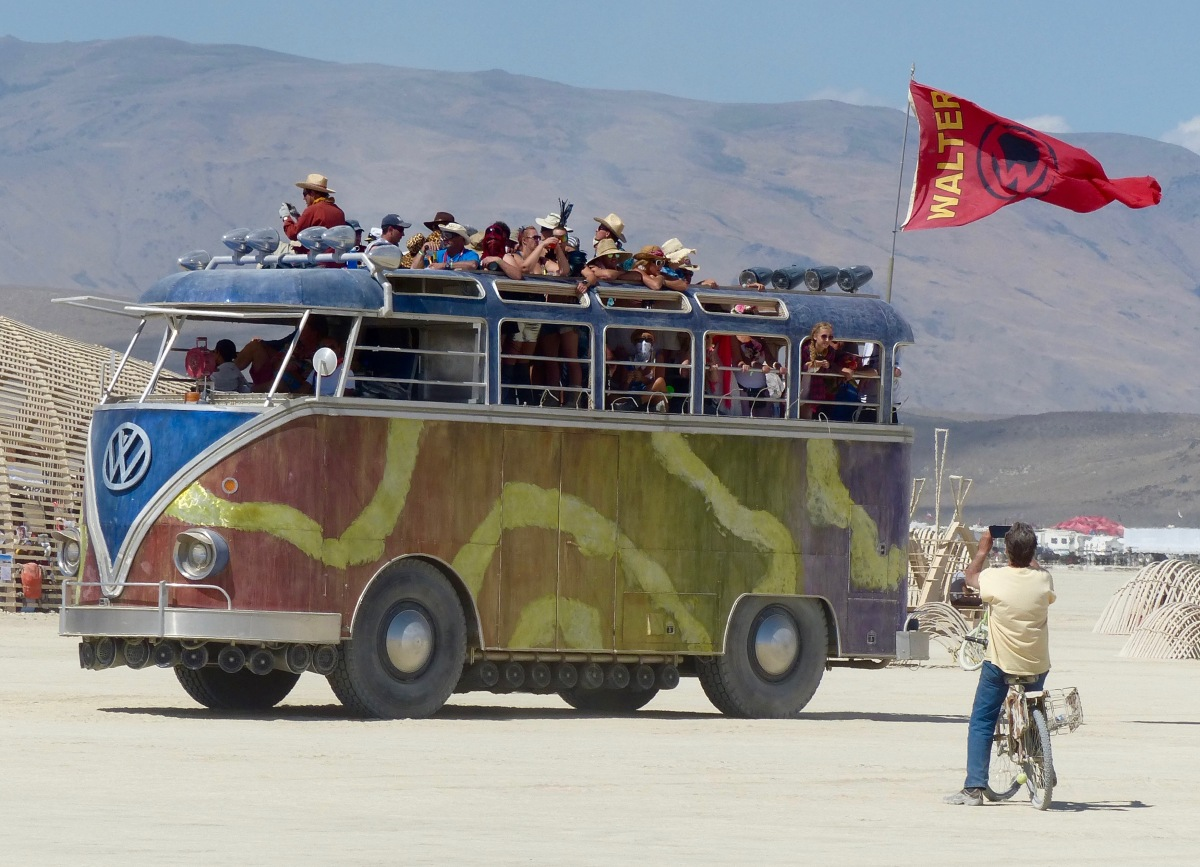 Walter the mutant vehicle at Burning Man.